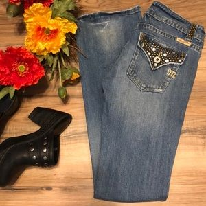 Miss Me Distressed Bootcut Jeans 14